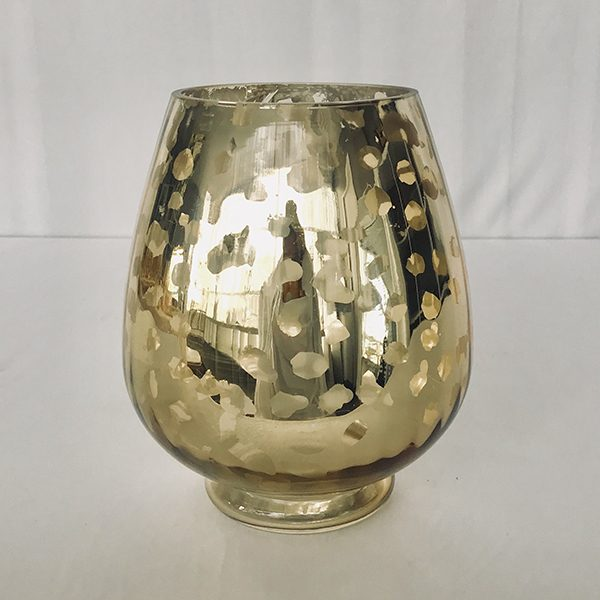 Gold Mercury Hurricane Vase Beautiful Wedding Hire