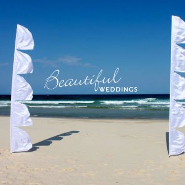 White Wedding Sail Flag - 4m
