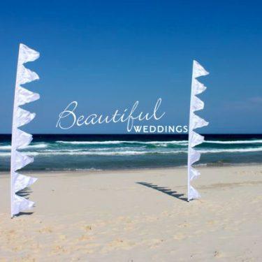 White Wedding Bunting Flag - 4m