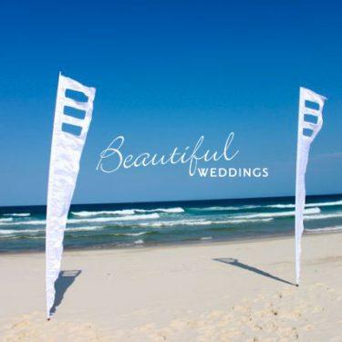 White Wedding Contemporary Flag - 4m
