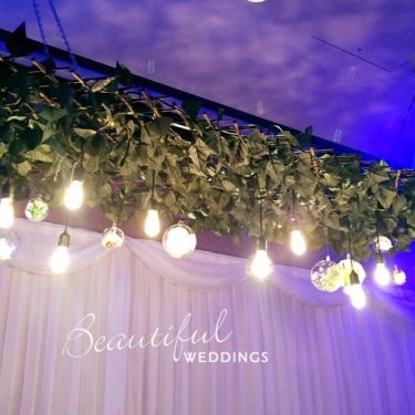 Hanging Greenery with Lights