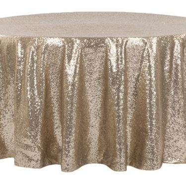 Champagne Sequin Tablecloth Round