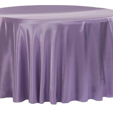Lilac Satin Tablecloth Round