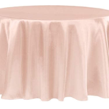 Blush Satin Tablecloth Round
