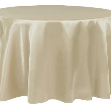 Champagne Satin Tablecloth Round