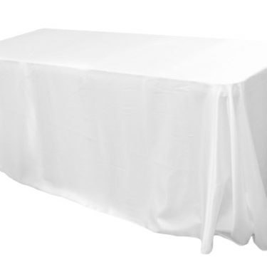 White Satin Tablecloth Rectangle