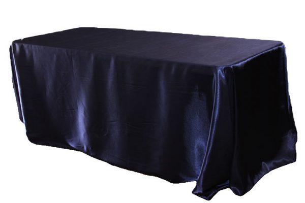 Navy Satin Tablecloth Rectangle