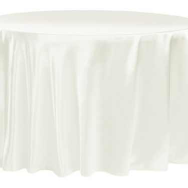 Ivory Satin Tablecloth Round