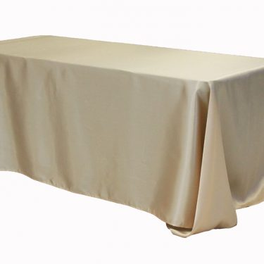 Champagne Satin Tablecloth Rectangle