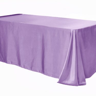 Lilac Satin Tablecloth Rectangle
