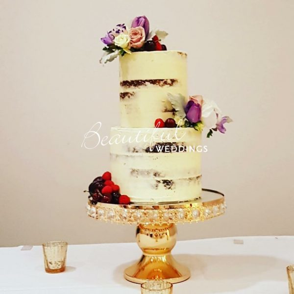Gold Diamonte Cake Stand