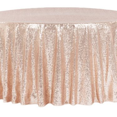 Rose Gold Sequin Tablecloth Round