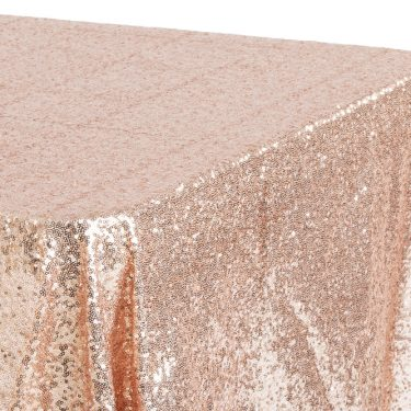 Rose Gold Sequin Tablecloth Rectangle